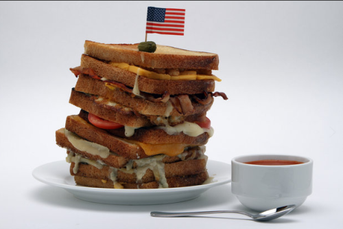 9-Layer Grilled Cheese to Celebrate National Grilled Cheese Day